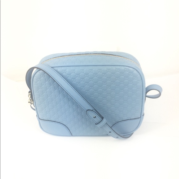 afd069a85ab Gucci Bree Blue Micro-GG Leather Crossbody  449413